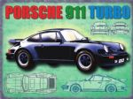 "10946 - Porsche 911 12"" x 16"" Vintage Metal Steel Advertising Sign Plaque"